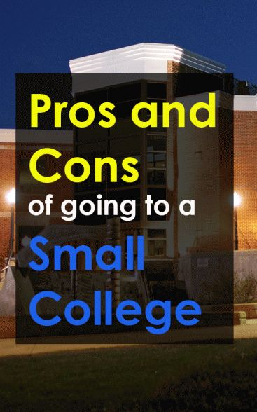 Pros and Cons of Going to a Small College