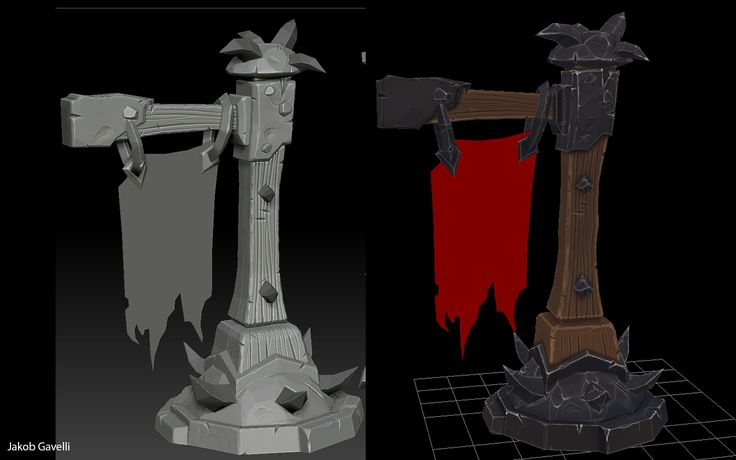 Iron Horde Handpainted Banner - Polycount Forum