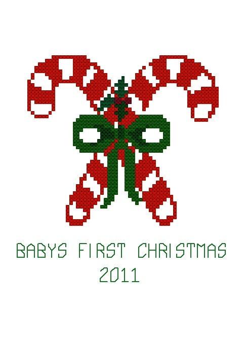 Baby's First Cross Stitch Pattern