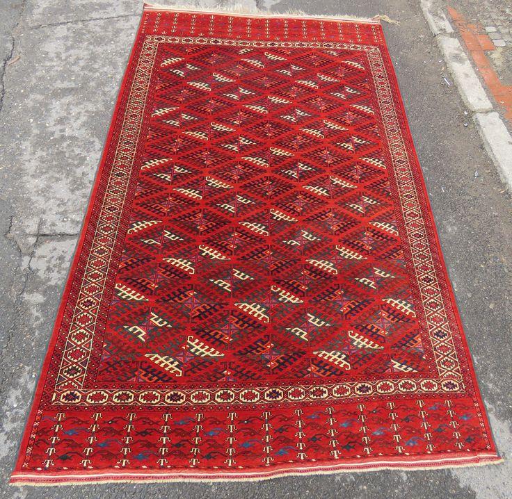Antique Turkoman dyrnak gul 3,25x1,92 cm contact  information  saharpets@gmail.com