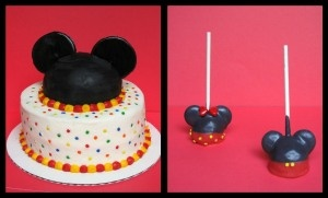 Mickey Smash Cake and Cake Pops
