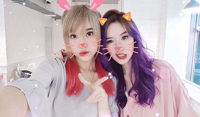 When on holiday, 👭👉🐰🐱 Lovin the magic brush feature, @beautyplus_id (and the rest of the beautifying features, of course)! 😁 - #BeautyPlusLebaran #jessads #beautyplusapp #elleandjess