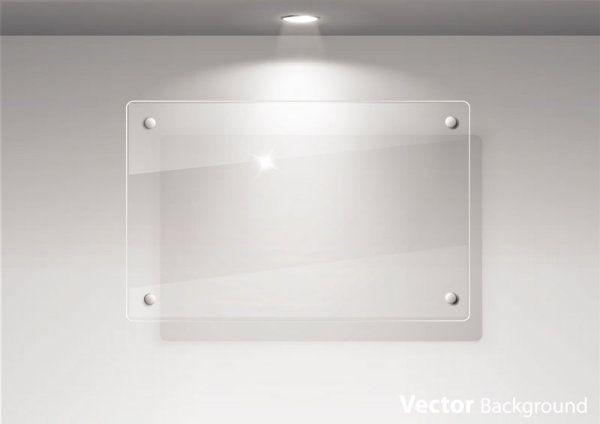 Paneles publicitarios transparentes e iluminados en formato vectorial   Puerto Pixel   Recursos de Diseño