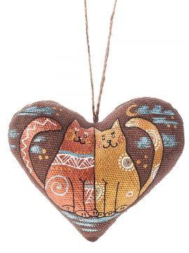 Серце з котами hand made heart with cats  Коза-Дереза