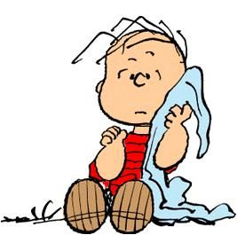 Linus--This so reminds me of my Jacob and his Blankie. He cannot sleep without. Most days is waits for him in the car while he is in first grade. (He'd take it in and put it in his cubbie if I'd let him.)