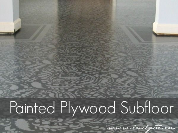 Need a super cheap flooring solution - painted plywood subfloor.  You would never know this was just a pretty subfloor.  No more nasty carpet!
