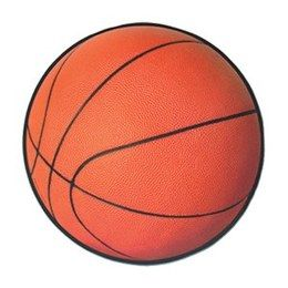 Decoratie Basketbal cutout -  Een grote decoratie van een basketbal. Afmeting: 33cm. Leuk voor een sport evenement, kinderfeest of gewoon als decoratie in een kinder of tiener slaapkamer.