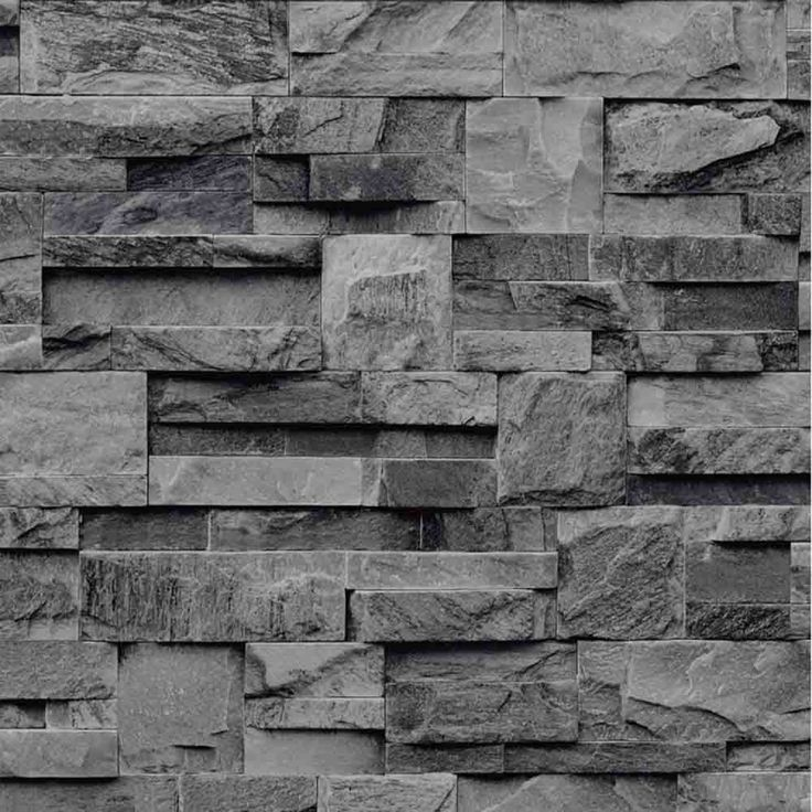 papier peint pierre de parement grise rouleau 10 m d co pinterest papier peint pierre. Black Bedroom Furniture Sets. Home Design Ideas