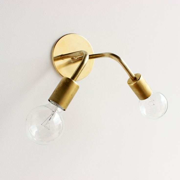 All brass wall sconce from Shop Onefortythree