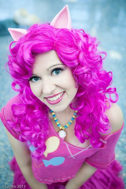Pinkie Pie! Pony ears MLP cosplay halloween party convention fun by yayahan, $16.99