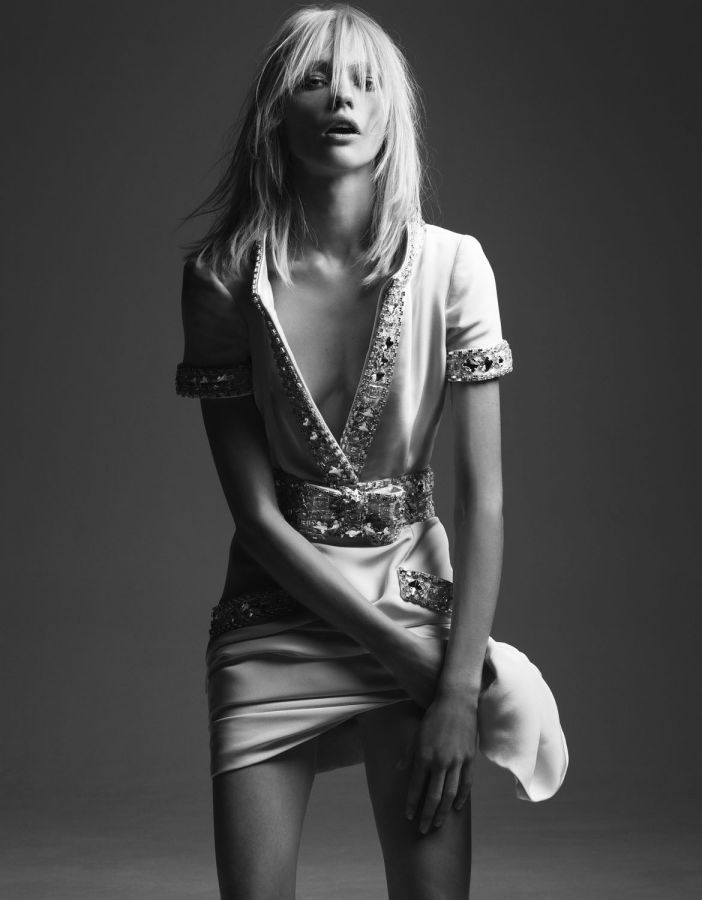 Sasha Pivovarova in Simplement Couture for Vogue Paris, February 2008 Shot by Hedi Slimane Styled by Emmanuelle Alt