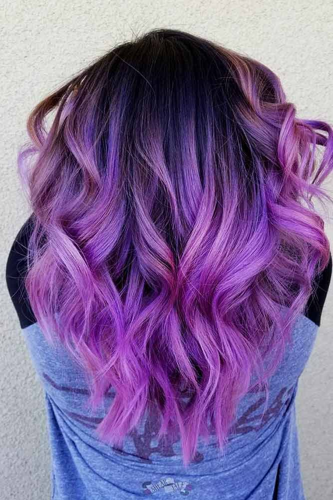 46 Purple Hair Styles That Will Make You Believe In Magic Hair Styles Hair Color Purple Hair Color Pastel