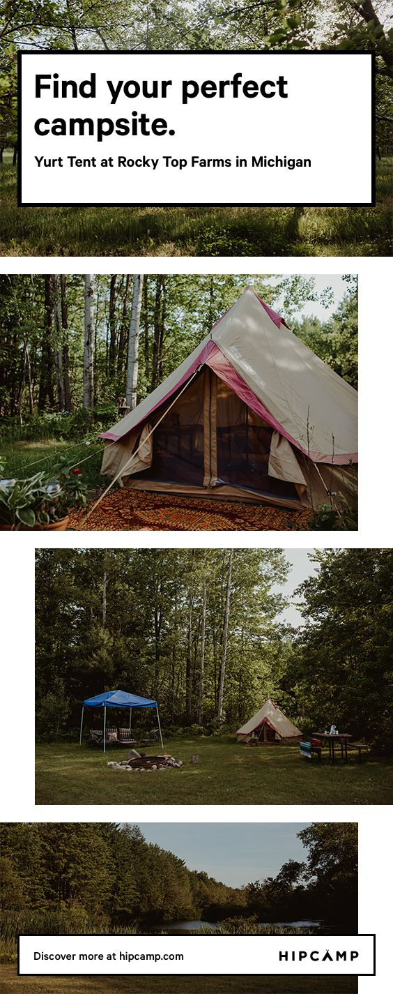 Yurt camping in Michigan