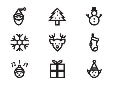 Christmas icons on Dribbble