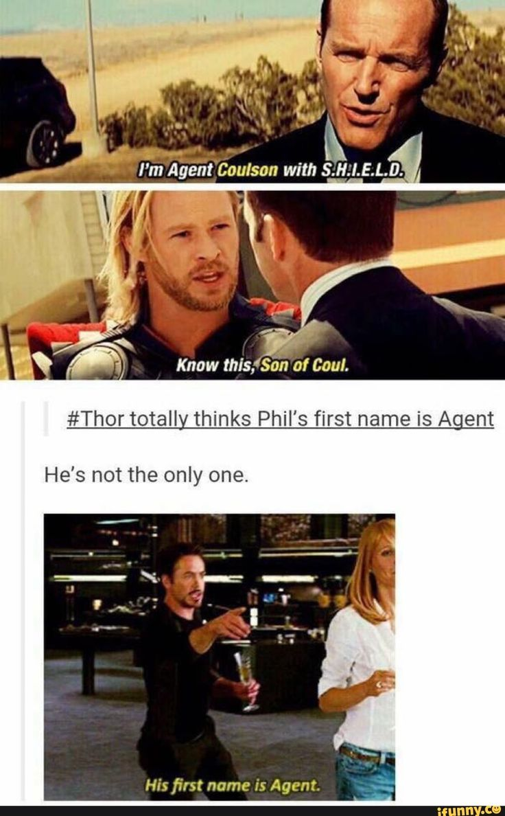 #Thor totall thinks Phil's first name is A ent – iFunny :) – What we learn