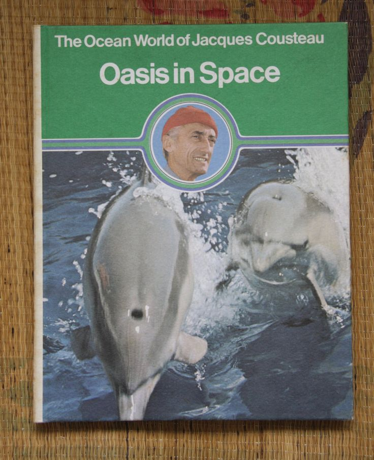 Ocean world of Jacques Cousteau. Oasis in Space edition. Steve Zissou. Childrens science book. Vintage education. Jacques Cousteau by ForestHillTradingCo on Etsy