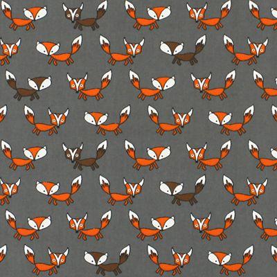 Running Fox - Coton - Polyester - gris
