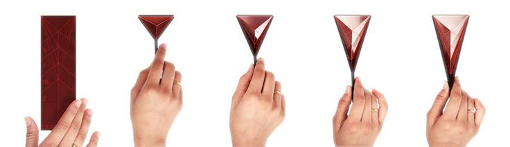 This Strip Of Plastic Cleverly Folds Into 4 Measuring Spoons | Co.Design | business + design