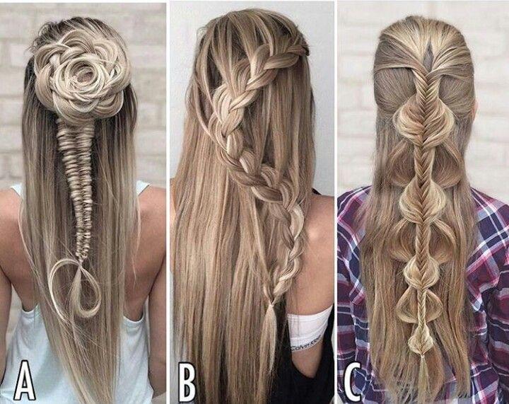 Simple but beautiful braids - Rose braid, Snake braid, waterfall to side braids
