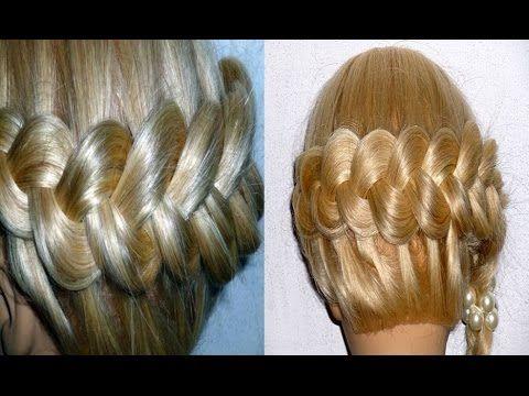 Причёска для средних и длинных волос. Французская коса вокруг головы - YouTube