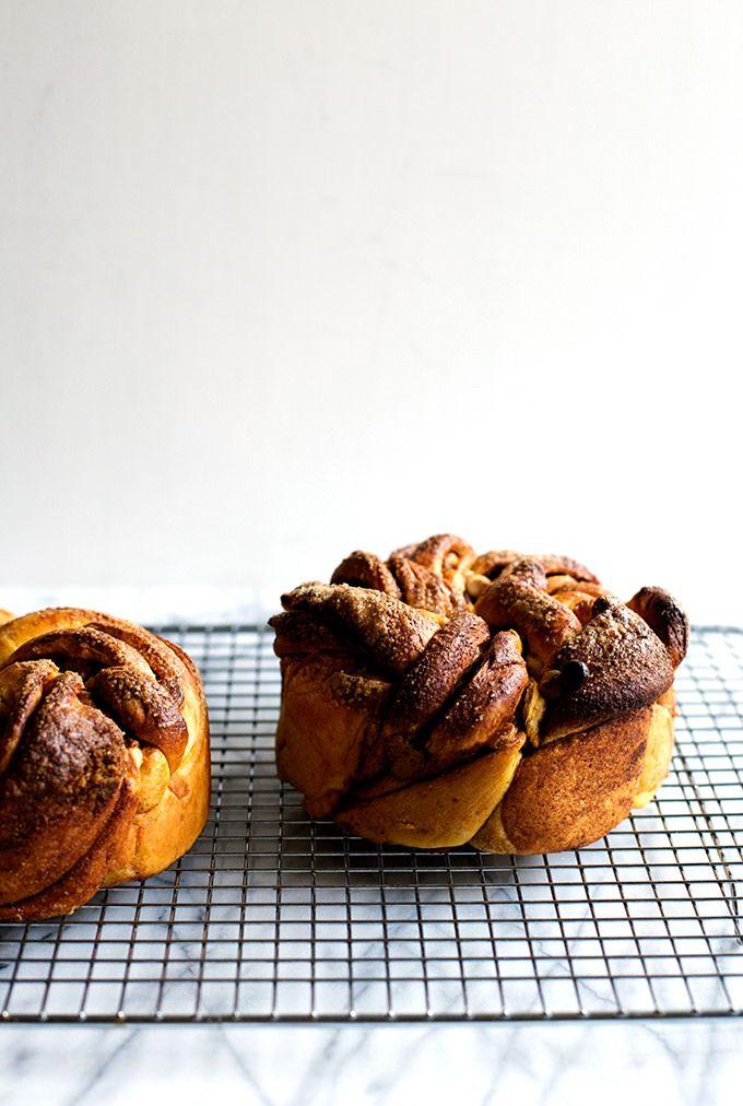 Intrecciato Cannella Swirl e cioccolato bianco pane di zucca da @cindyr