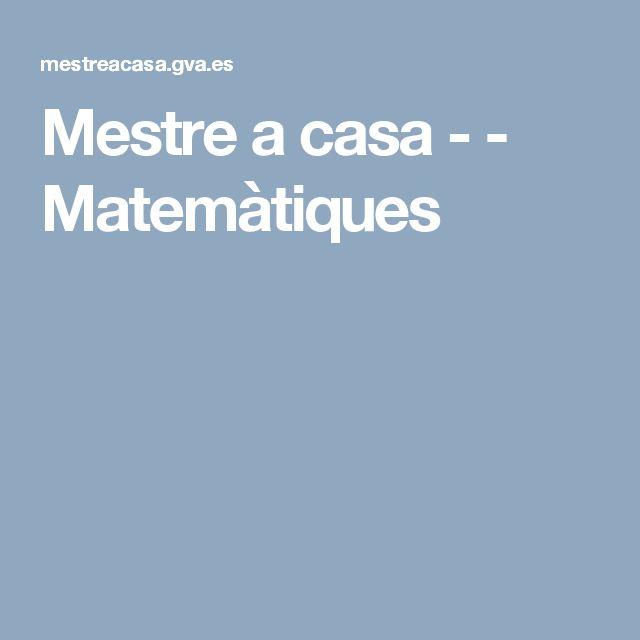 Mestre a casa -  - Matemàtiques
