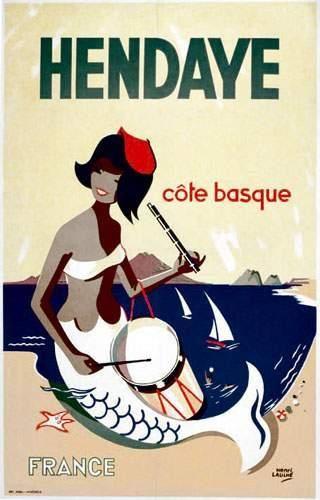 Hendaye - Côte Basque - illustration de Henri Lauhle -