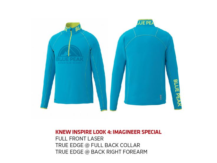 (W) KNEW Knit Half Zip Trimark Sportswear Group