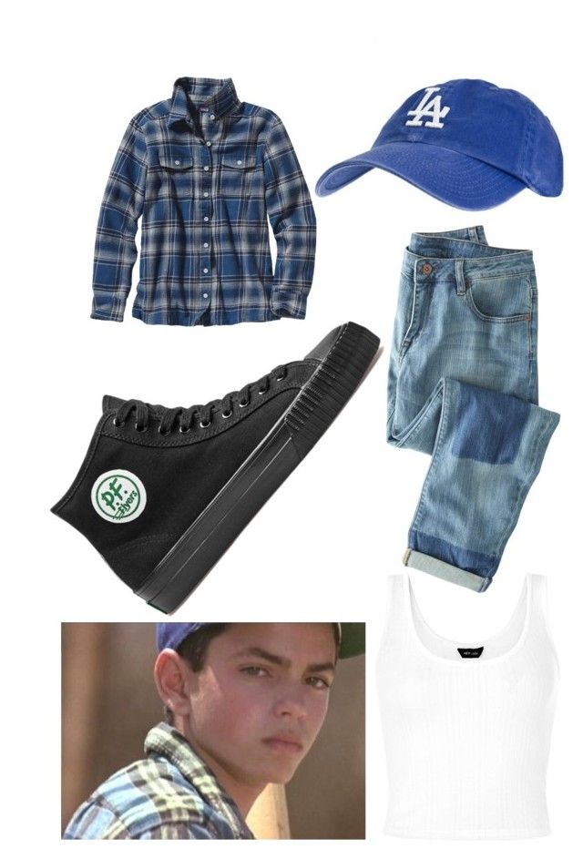 """My Benny "" the jet"" Rodriguez Sandlot Outfit"" by soccer-freak9 ❤ liked on Polyvore featuring Patagonia, Wrap, PF Flyers, women's clothing, women, female, woman, misses and juniors"