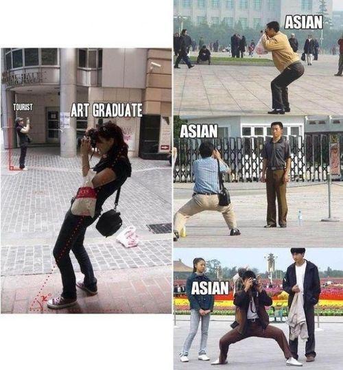Asian Tourist Pose 73