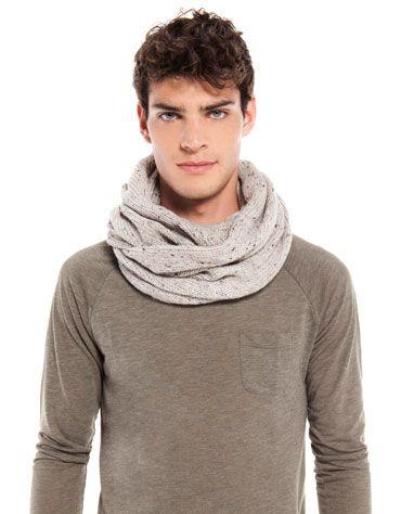 Тяжелый вязаный шарф-хомут - Bershka