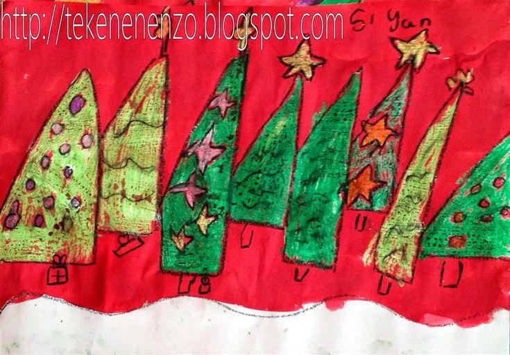 Kerstbomenbos+in+de+sneeuw+tekenles+2+(Medium).jpg (1102×768)