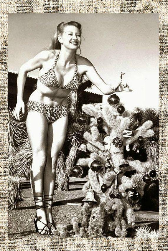 Photo Vintage, noir et blanc photo, Hollywood Starlet Noël photo imprimé, photographie de Pin up, chevalier ensoleillé