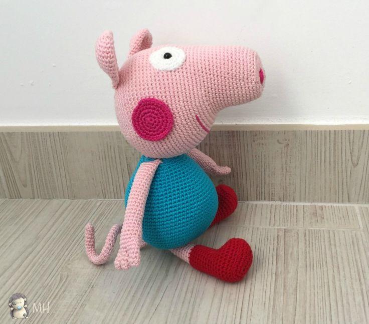Cerdito George Pig hermano de Peppa Pig - Patrón Gratis en Español                                                                                                                                                                                 Más
