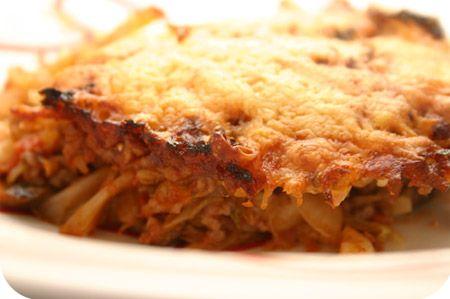 Pasta Ovenschotel met Spitskool en Gehakt