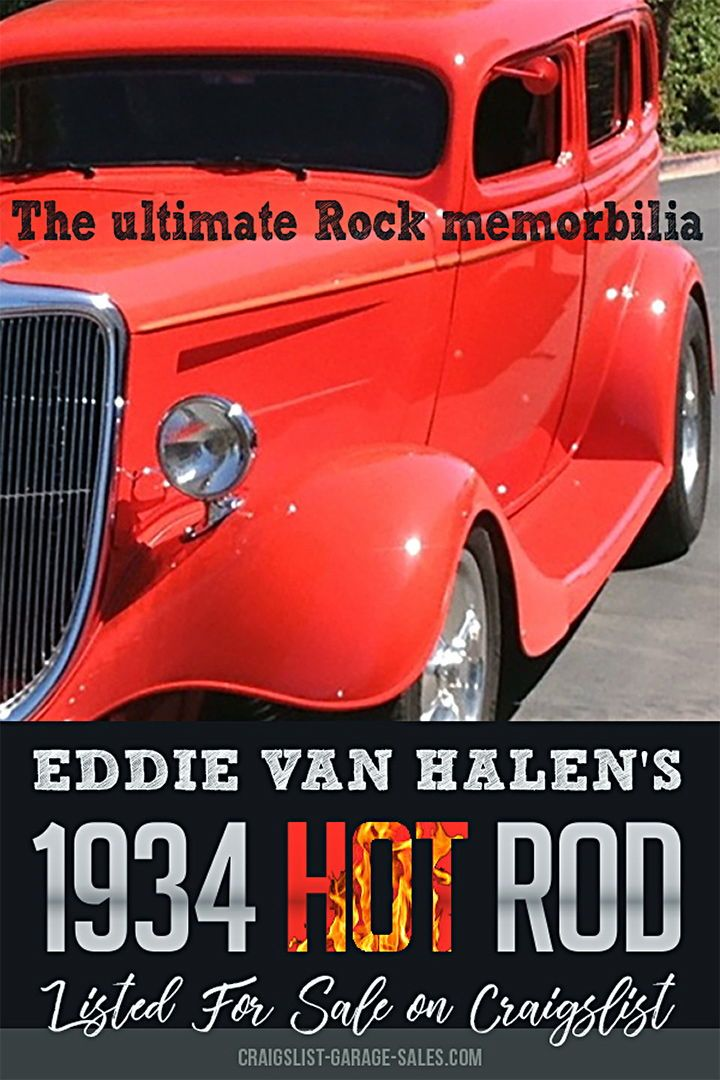 Here S A Real Find Eddie Van Halen S Hot Rod Is For Sale On Craigslist Eddie Van Halen Van Halen Ford Hot Rod