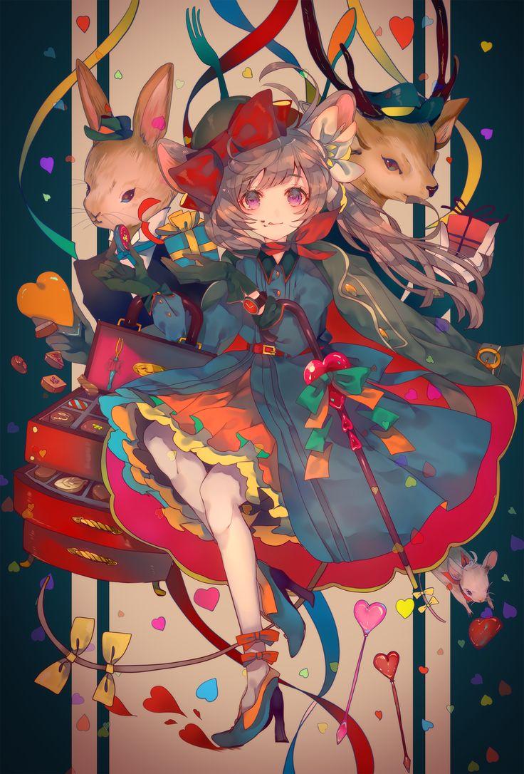 Anime / Manga Nezumi Mouse Usagi Rabbit Shika Deer Forest Animals