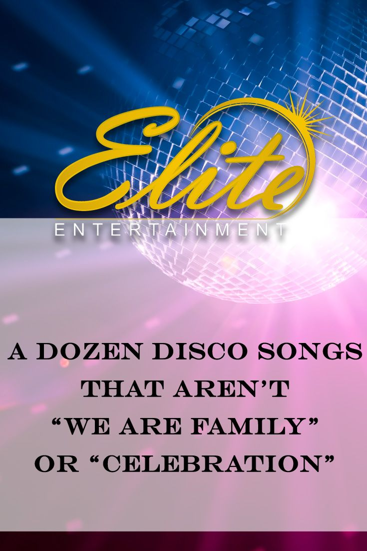 average price for wedding dj in new jersey%0A A Dozen Disco Songs That Aren u    t  u   cWe Are Family u   d or  u   cCelebration u   d
