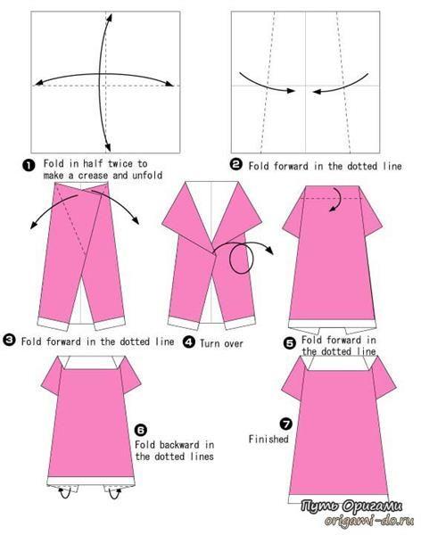 Уроки оригами платье