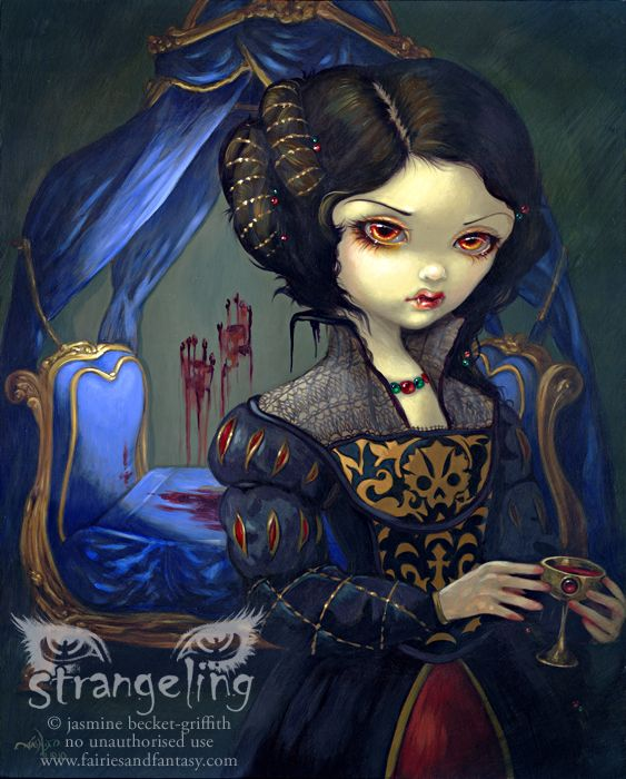 Art Print - I Vampiri: Bellissimo Letto by Jasmine Becket-Griffithhttp://www.fairiesandfantasy.com/store/Jasmine-Becket-Griffith-Strangeling/