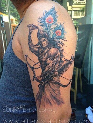 Lord Krishna Warrior Tattoo(rare)