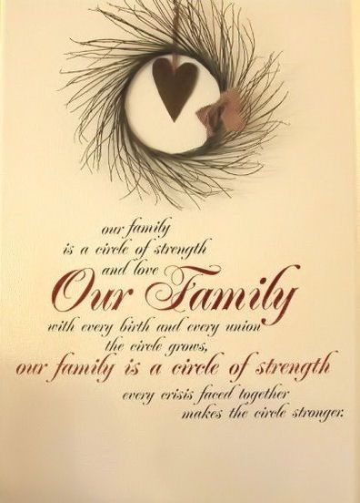 Quotes About Family Love And Strength : Our Family is a Circle of Strength & Love. Our Family with Every Birth ...