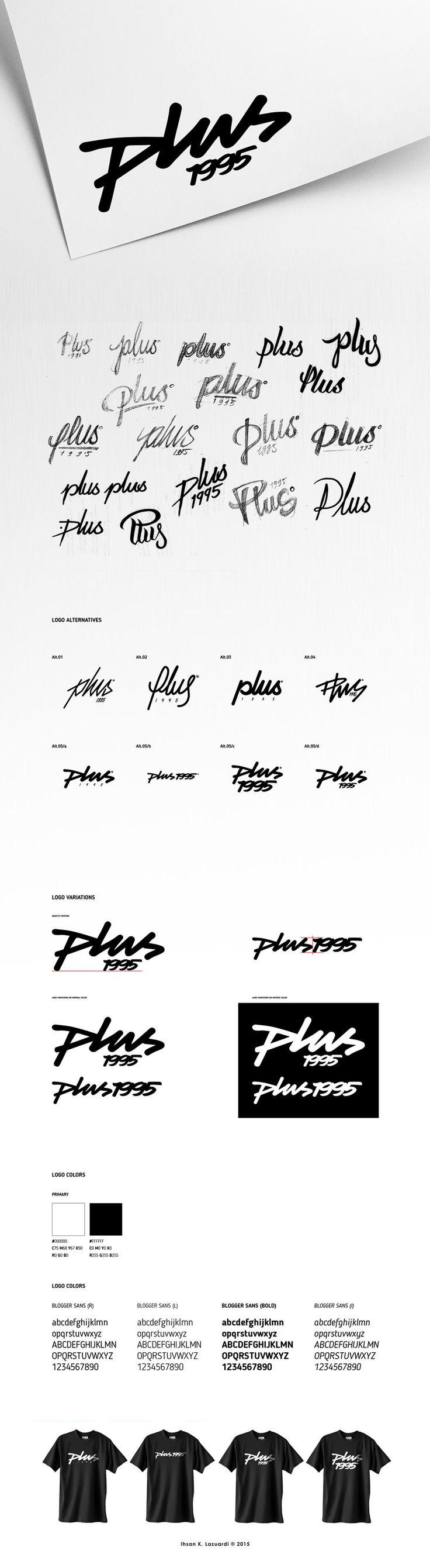 handdrawn logotype i did for streetwear brand named Plus 1995 www.behance.net/ihsankl #ihsankl