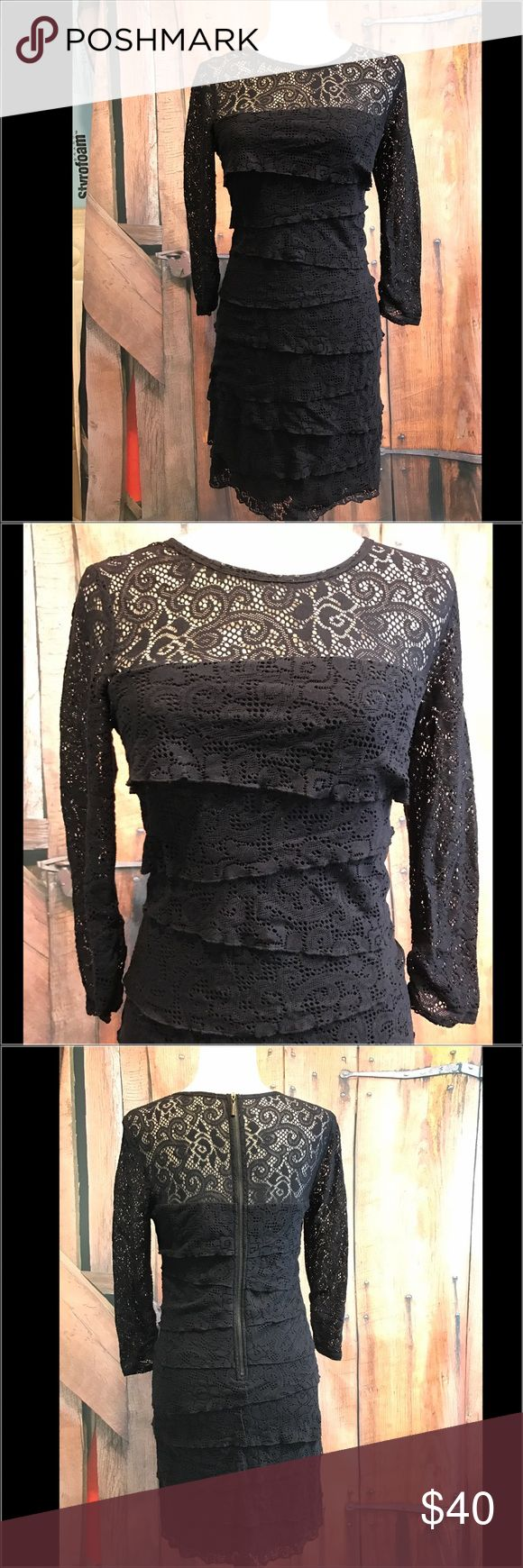 LAUNDRY by Shelli Segal lace dress 🌹🌹🇺🇸🇺🇸 Gorgeous black lace LAUNDRY dress by Shelli Segal. Size 6. Smoke free home.  Next day shipping. Please feel free to ask any questions. Thank you for shopping my closet. Offers always welcome❤️ Laundry by Shelli Segal Dresses