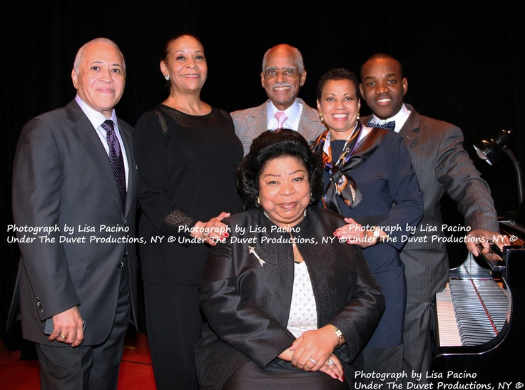 Opera singers Vinson Cole, Roberta Alexander, Martina Arroyo, George Shirley, Harolyn Blackwell, and Lawrence Brownlee.   At the METROPOLITAN OPERA 78th Annual Luncheon, Waldorf-Astoria, NY, December 4th, 2012. The Permanent Contemporary Collection for the Schomburg Center for Research in Black Culture-New York Public Library. Photographer: Lisa Pacino