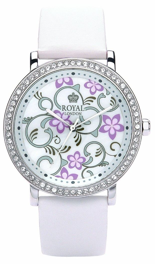 Women watches:  Best white watches for women Royal London Women's Quartz Watch with Mother of Pearl Dial Analogue Display and White Leather Strap 20129-01