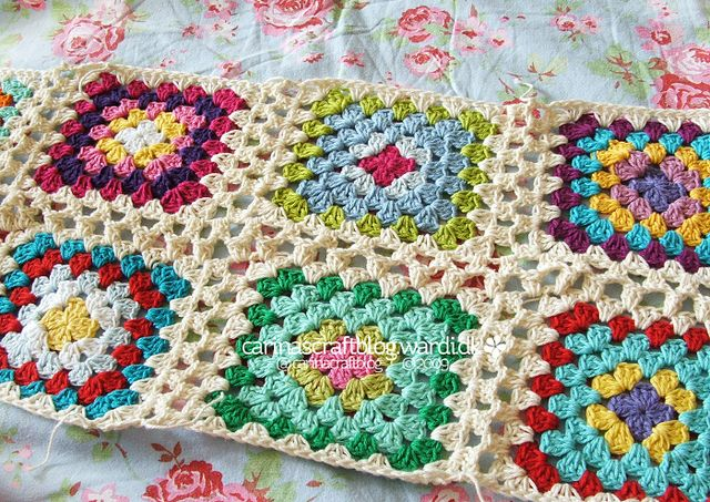 Crochet tutorial: joining granny squares 17