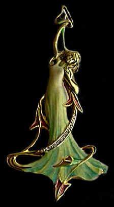ORO, DIAMANTES Y ESMALTE.....Art Nouveau