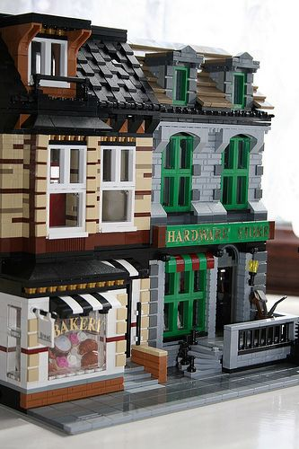 Modular Bakery and Hardware Store #modular #brickadelics