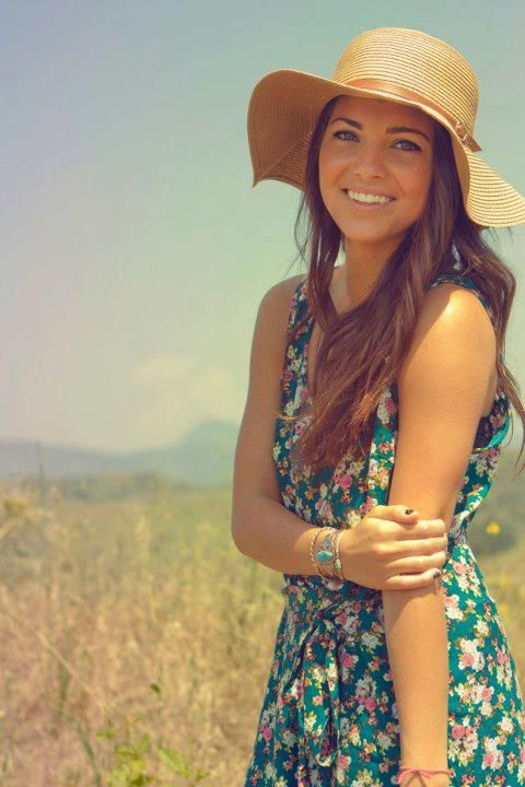 Okay I absolutely love this outfit! She looks so adorable in that hat and that dress is super cute. #perfection
